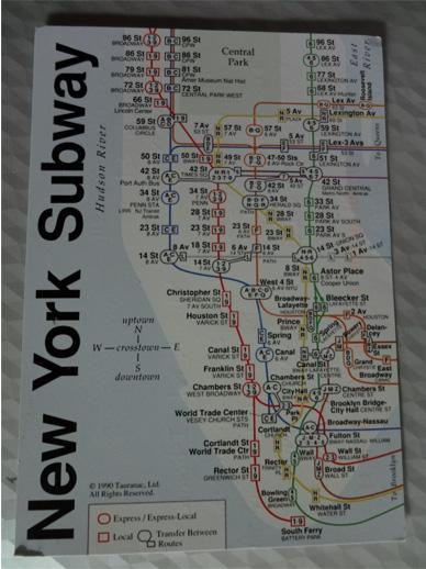 ニューヨークの地下鉄路線図だって!